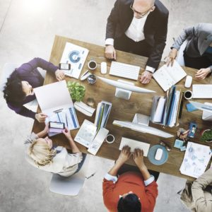 Employees-Working-Topview