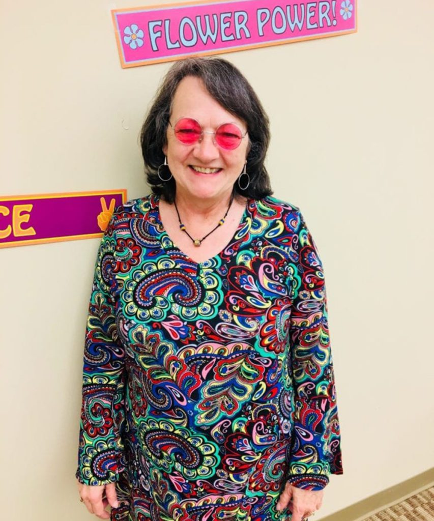 Sherry looks at life through rose colored glasses