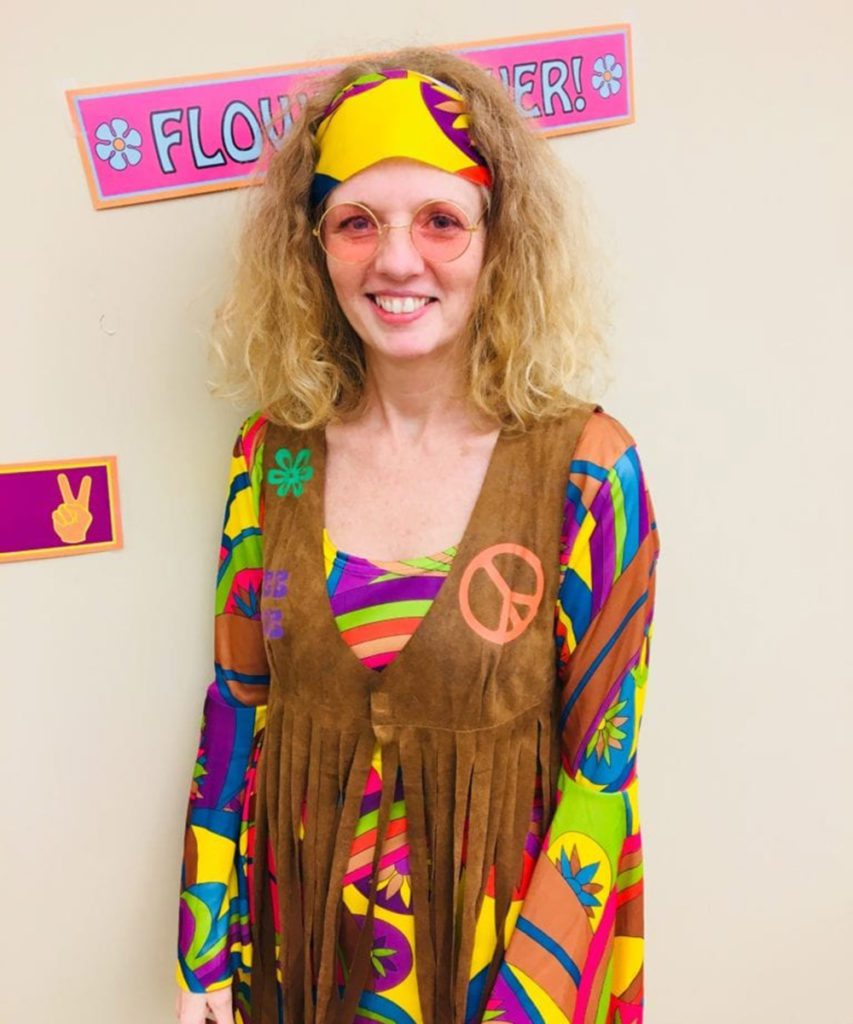 Tammy had a super psychedelic outfit!