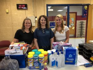 Katherine and Madison Deliver School Supplies