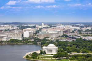 Washington DC - Aerial View of Thomas Jefferson Memorial