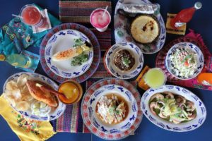 array of mexican foods from la gloria