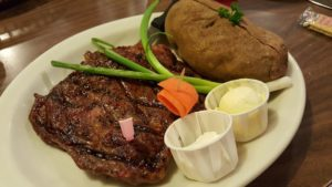 steak dinner from sammys in castroville