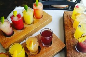 flights of sangria from sangria on the burg