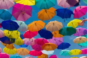 umbrella insurance floating in the air