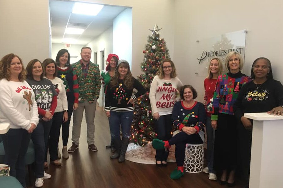 Peoples First Insurance - Christmas Sweaters