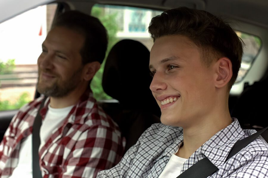 The Hanover SafeTeen Program - Teenage Driver with Dad