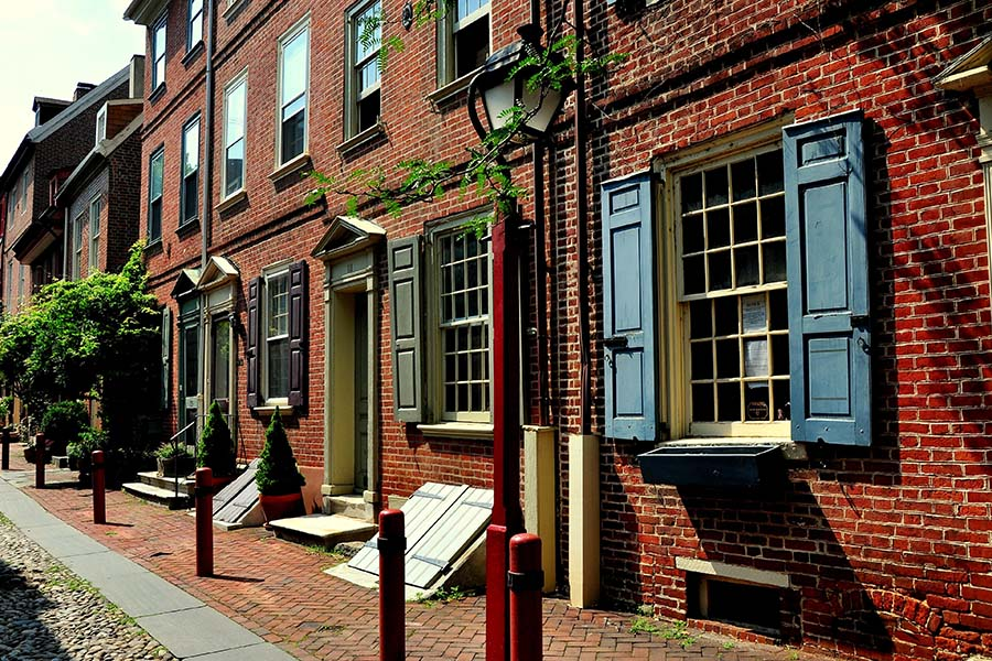 Contact - Row of Historical Homes in Downtown Philadelphia