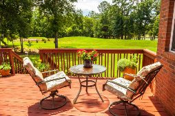 Outside deck and patio set