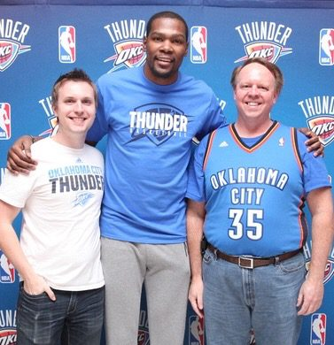 Scott and Cody with Kevin Durant