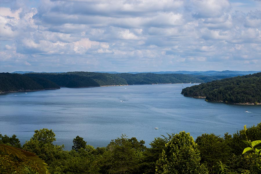 Watercraft Insurance - Lake Cumberland in Summer with Boats on the Water