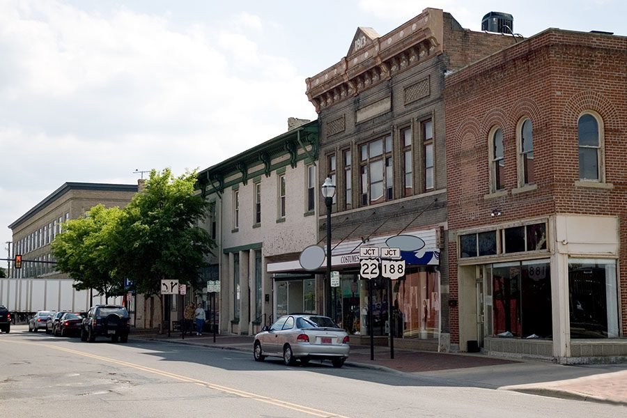 Mt Sterling KY - View of Buildings in Downtown Mt Sterling Kentucky