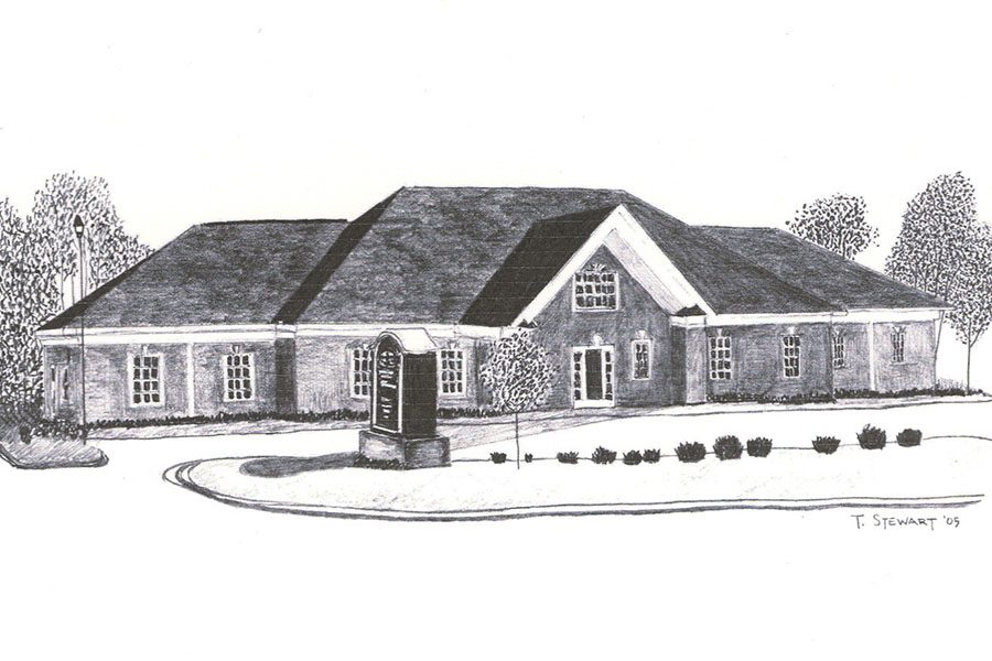 Greenville SC - Drawing Of Turner Agency Office In Greenville South Carolina