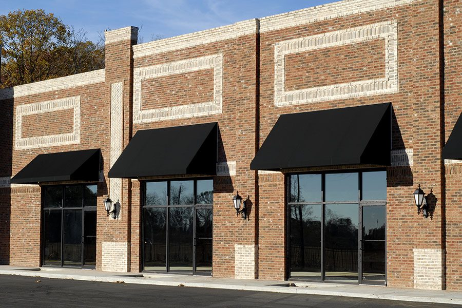 Business Insurance - View of New Commercial Retail Building