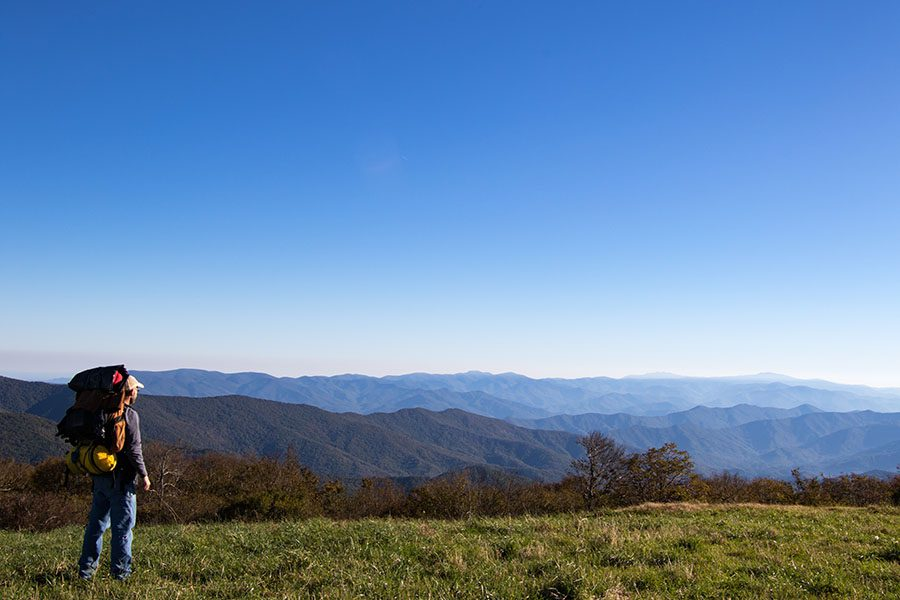 Blog - Man Hiking On The Appalachian Trail Looking Out At The View