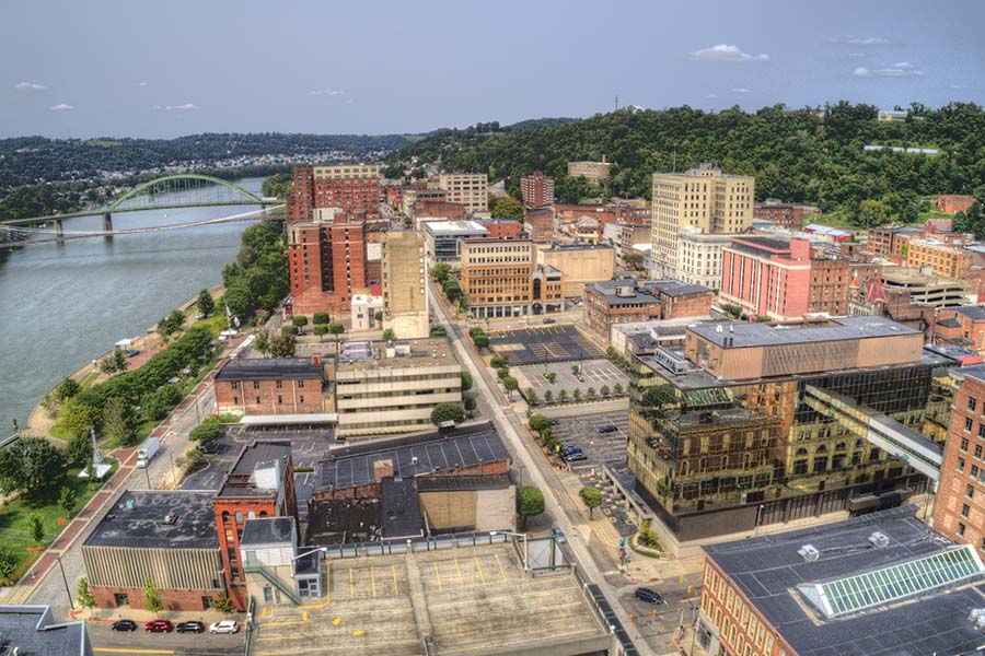 Parkersburg WV - View of Downtown Parkersburg West Virginia