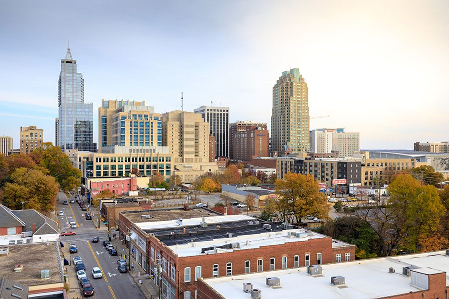 Raleigh NC - View of Downtown Raleigh North Carolina