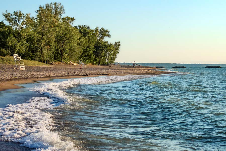 Contact - View Of The Shoreline In Erie Pennsylvania