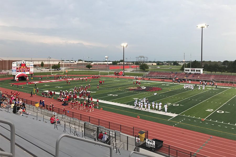 Portage IN - View Of High School Football Game In Portage Indiana