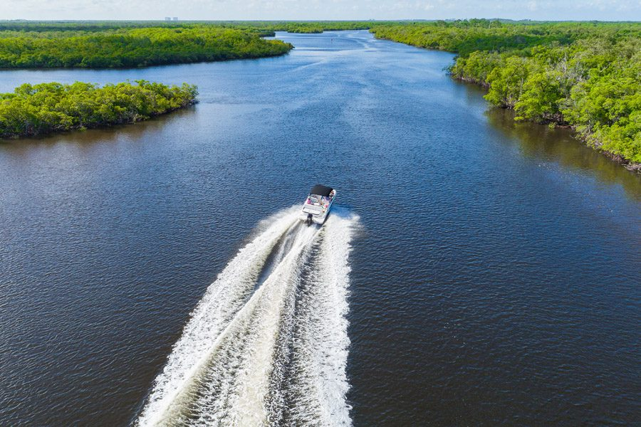 Naples, FL Insurance - Boat Out in a Mangrove in Florida