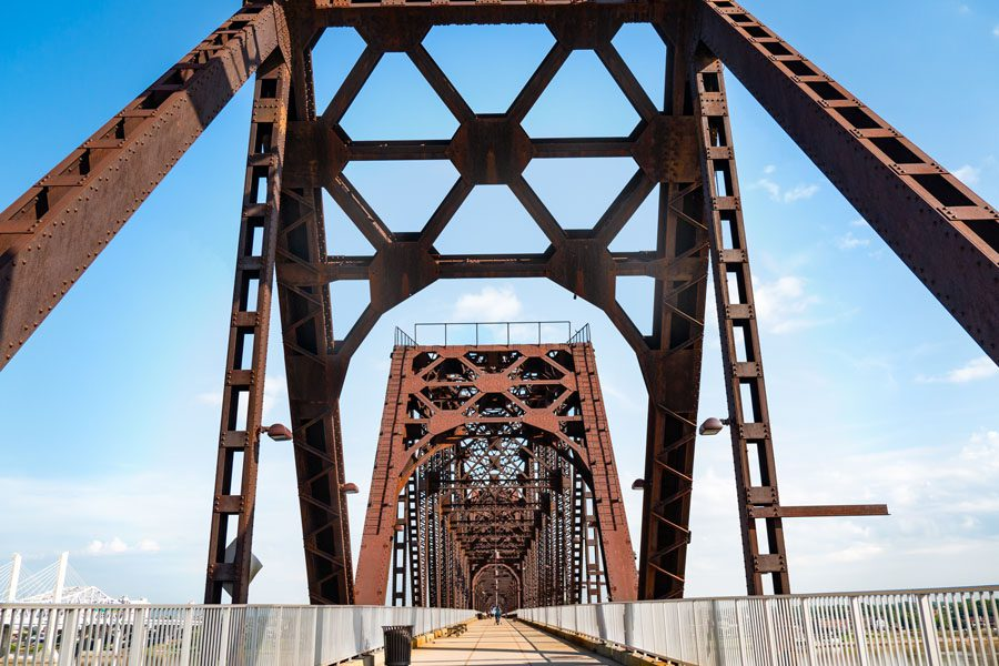 Contact Us - Bridge Leading into Louisville, Kentucky on a Bright Sunny Summer Day