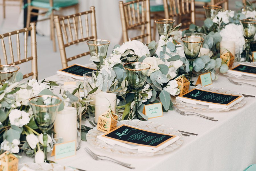 Special Event Insurance - Wedding Table Set Up with Menus