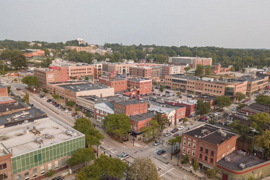 Kent, OH Insurance - View of Downtown Kent Ohio from the Sky