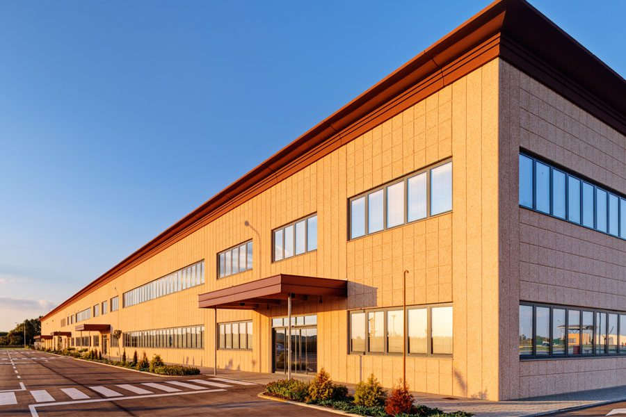 Commercial Property Insurance - Modern Industrial Building in an Industrial Park