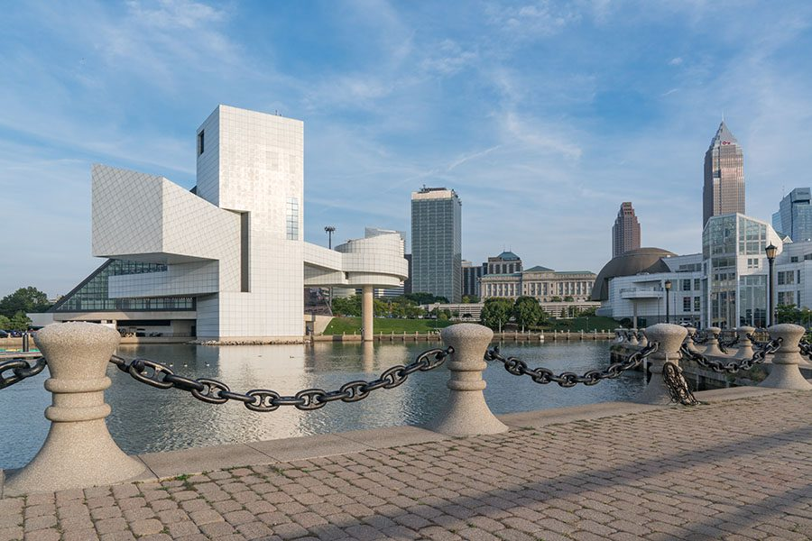 Blog - Skyline View of Cleveland Ohio from Harbor Walkway