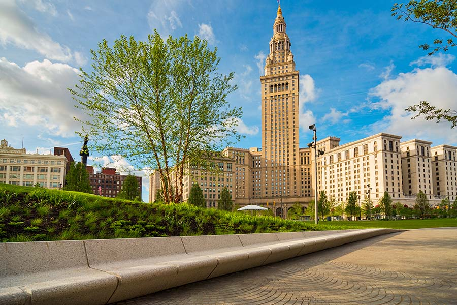 Contact - View of Commercial Buildings in Cleveland Ohio