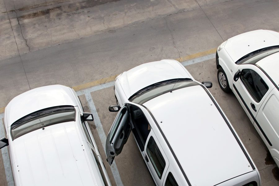 Fleet Insurance - Group of Business Vehicles in a Lot