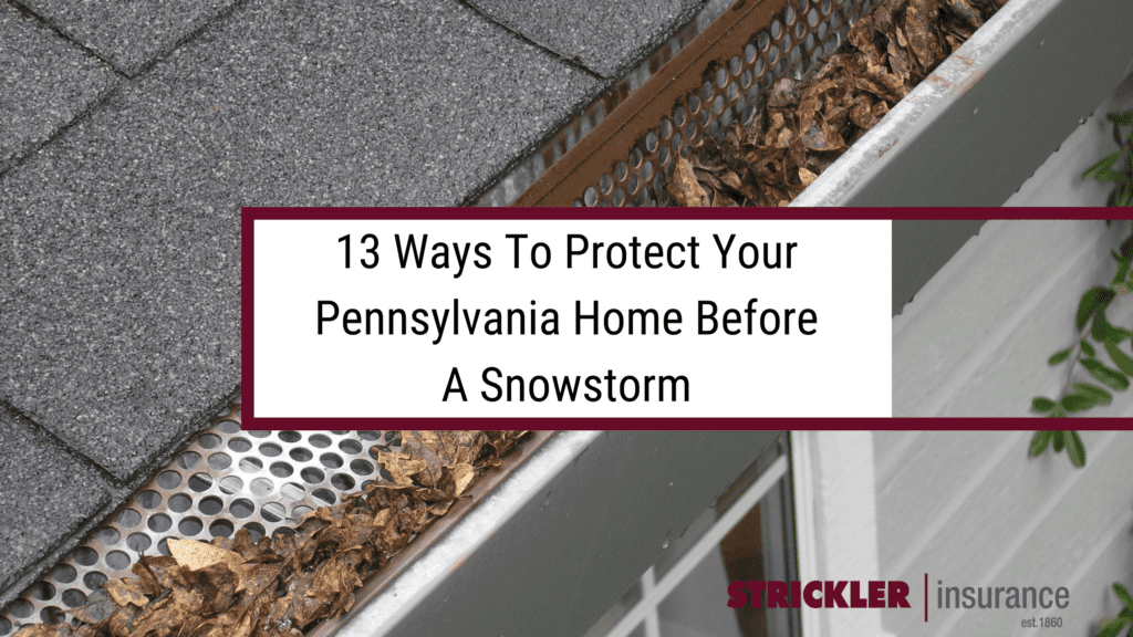 13 ways you can protect your home from snow damage before a storm and gutters with leaves.