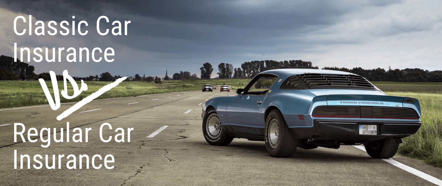 Classic Car insurance compared to regular car insurance with a shelby.