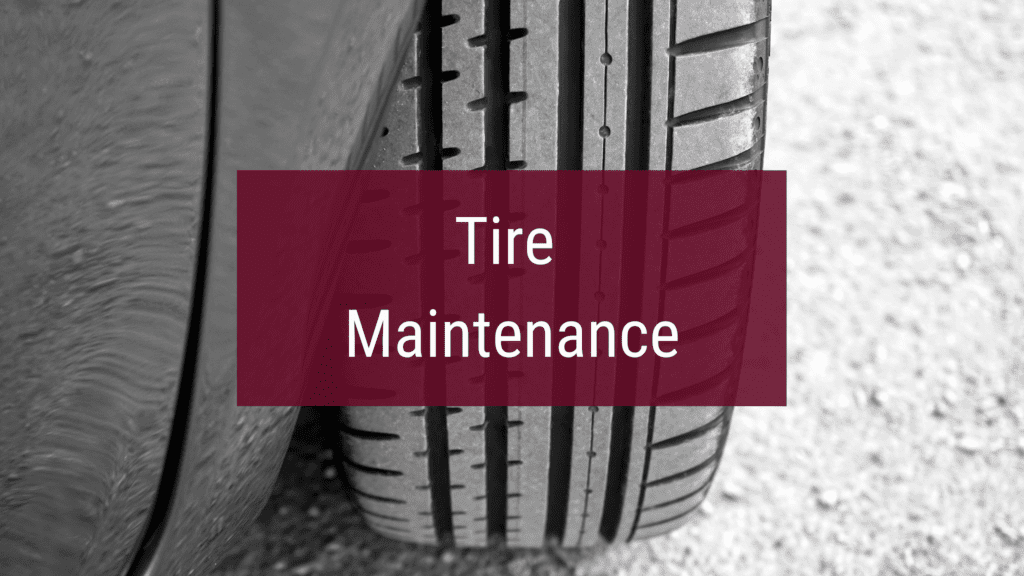 Car tire maintenance and protection.