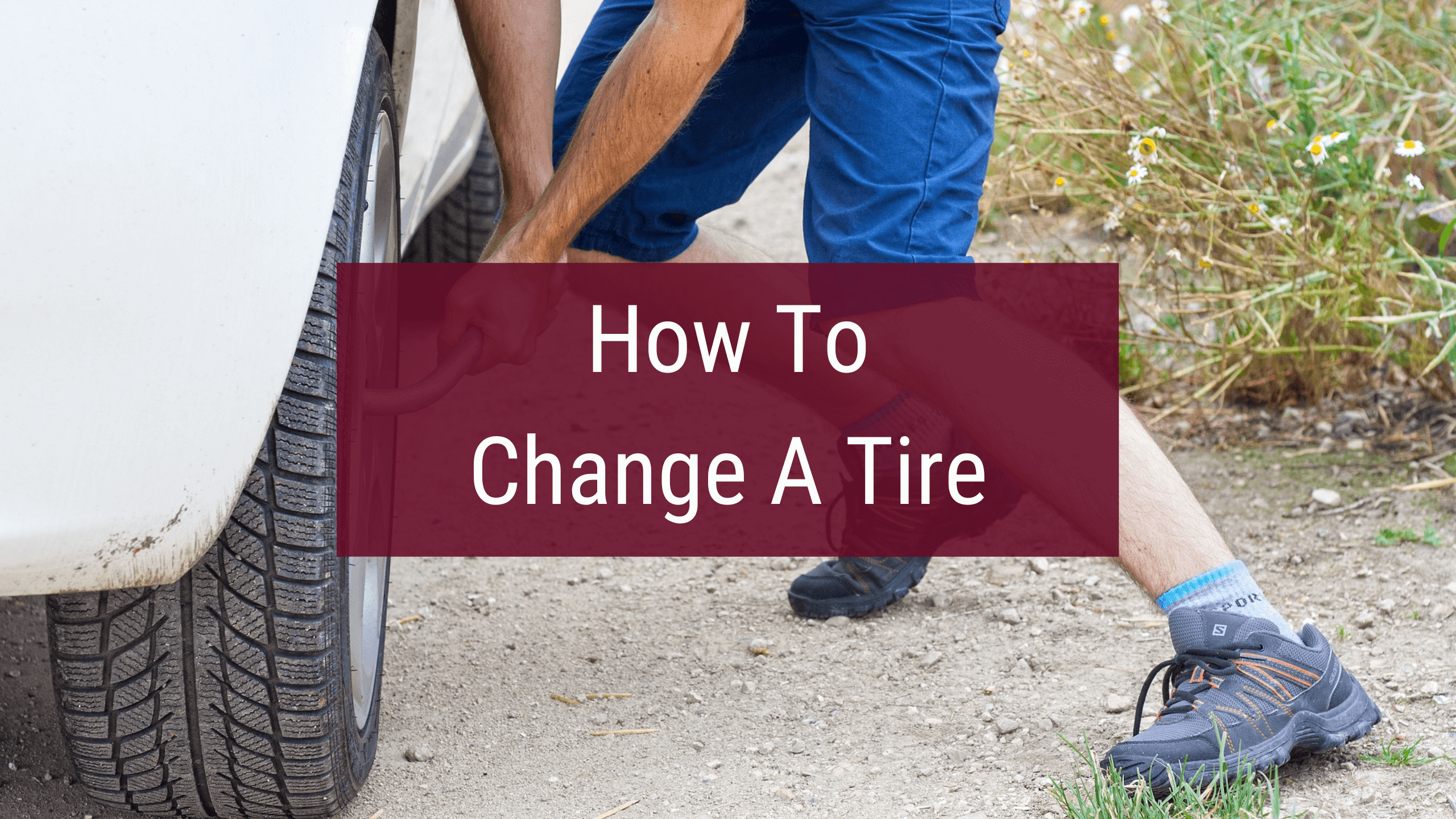 How to change a truck or car tire.