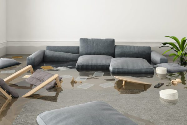 Blog - flood in brand new apartment. 3d rendering