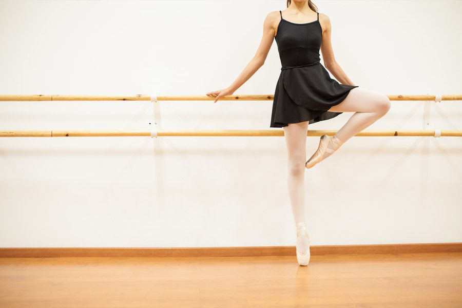Dance Studio Insurance - Young Female Ballet Dance Standing at the Barre