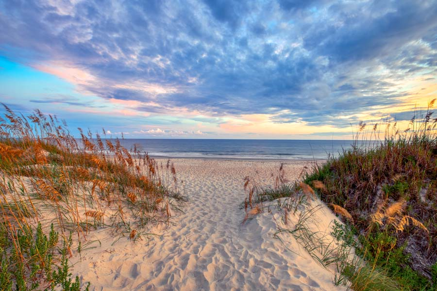Blog - Beachy Sunset of North Carolina Beaches During the Summer
