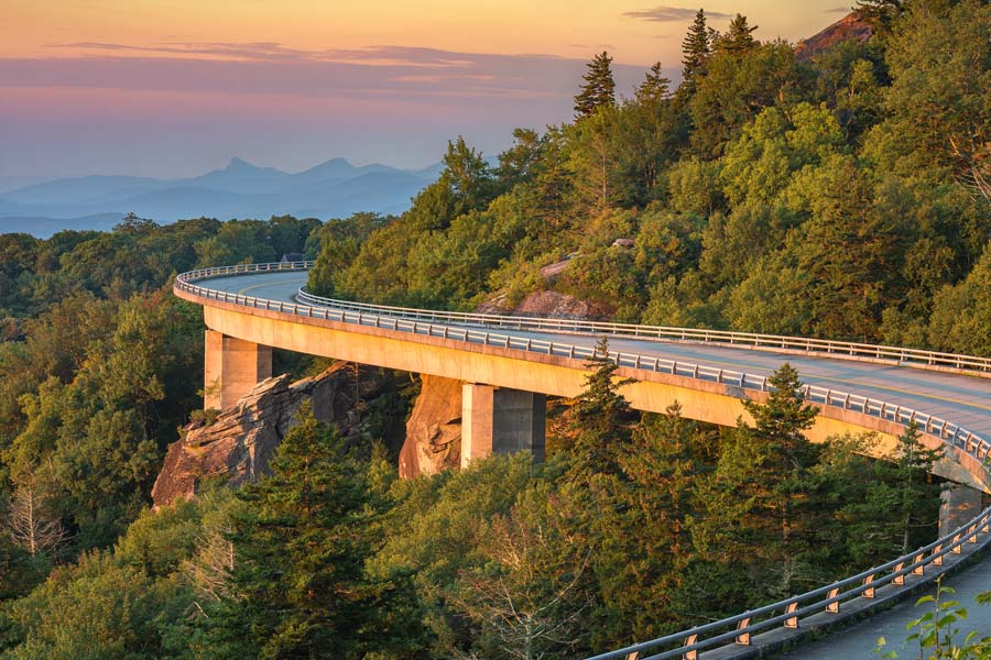 Contact Us - North Carolina Insurance with Mountains and Windy Roads
