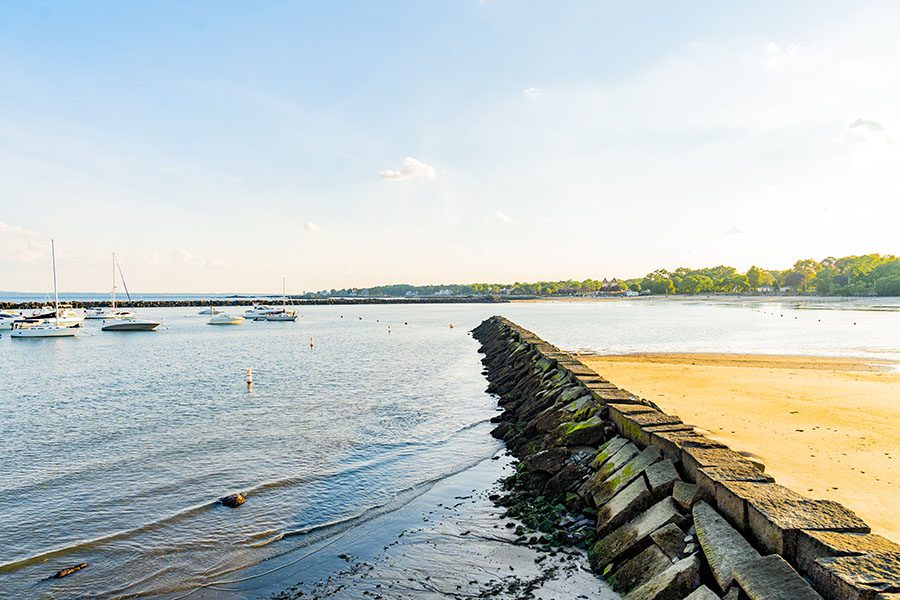 Rye NY - View Of Harvor And Ocean In Rye New York