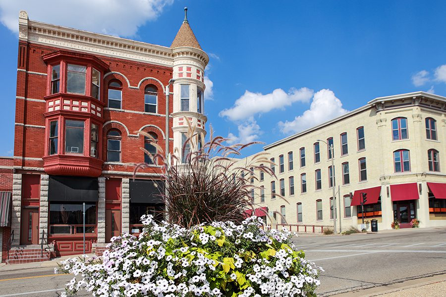 Janesville, WI - Turn of the Century Buildings in Downtown Janesville, Wisconsin