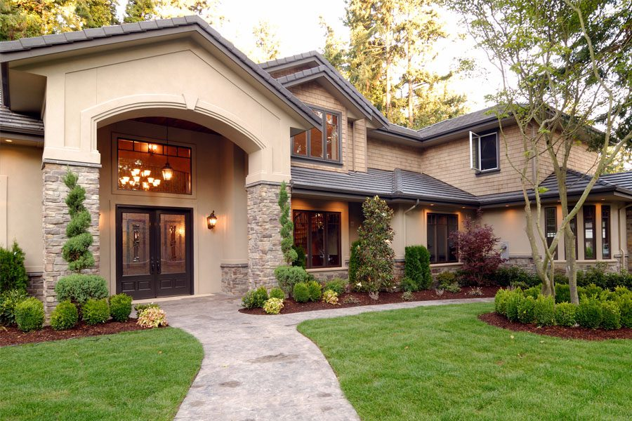 Home Insurance - Family Home with Inviting Front Walk