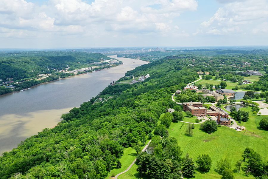 Kentucky - Aerial View of Ohio River Valley and Surrounding Area