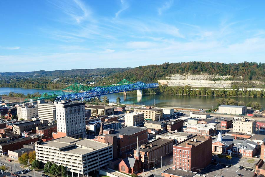 Eastern Kentucky - View of Downtown Ashland Kentucky