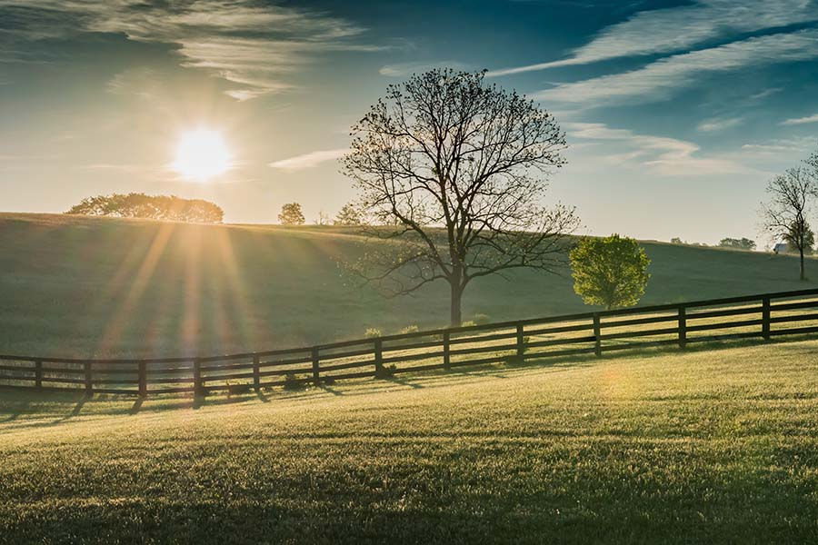 Louisa KY - View of Rolling Hills in the Countryside in Louisa Kentucky