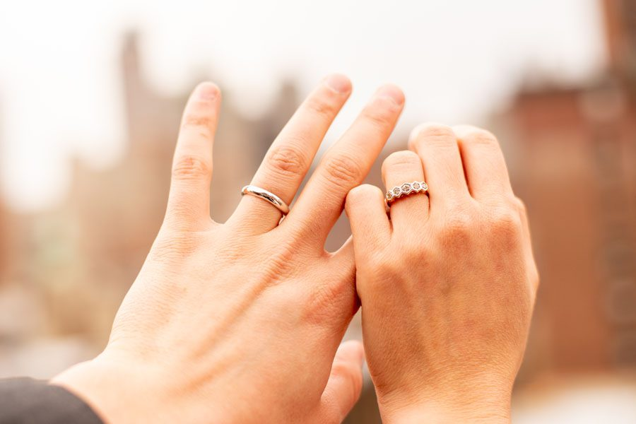 Wedding Insurance - Couple with their Rings