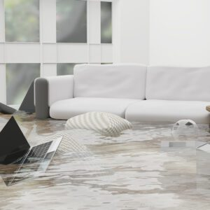 An image of a flooded living room