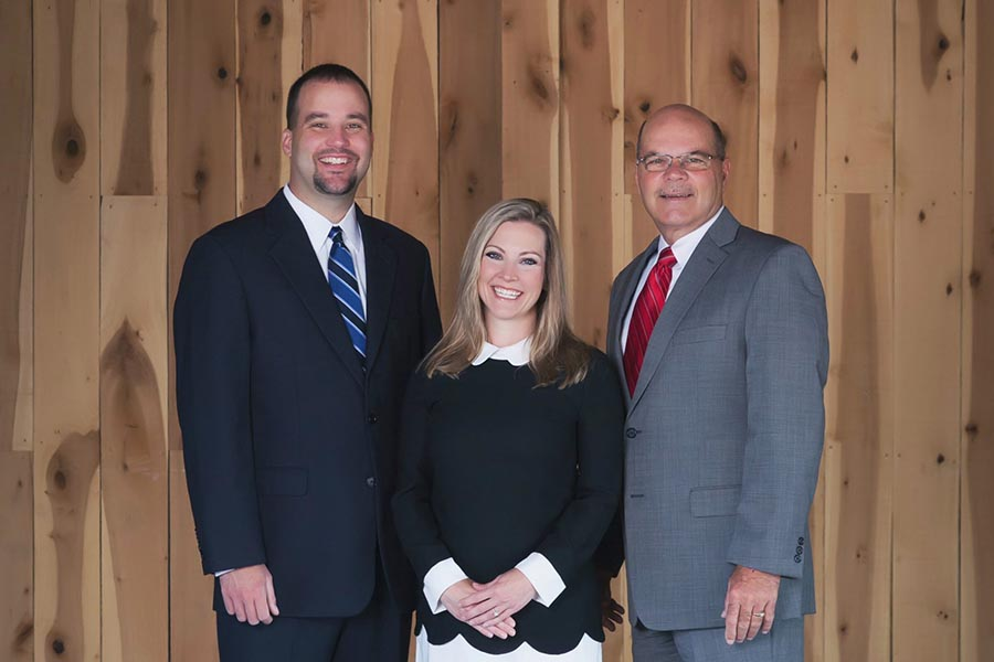 About Our Agency - Morrison & Fuson Team Photo Featuring Marshall, Stephanie and Tommy
