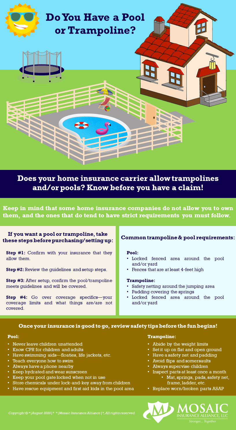 Do you need pool or trampoline insurance? Ask Mosaic!