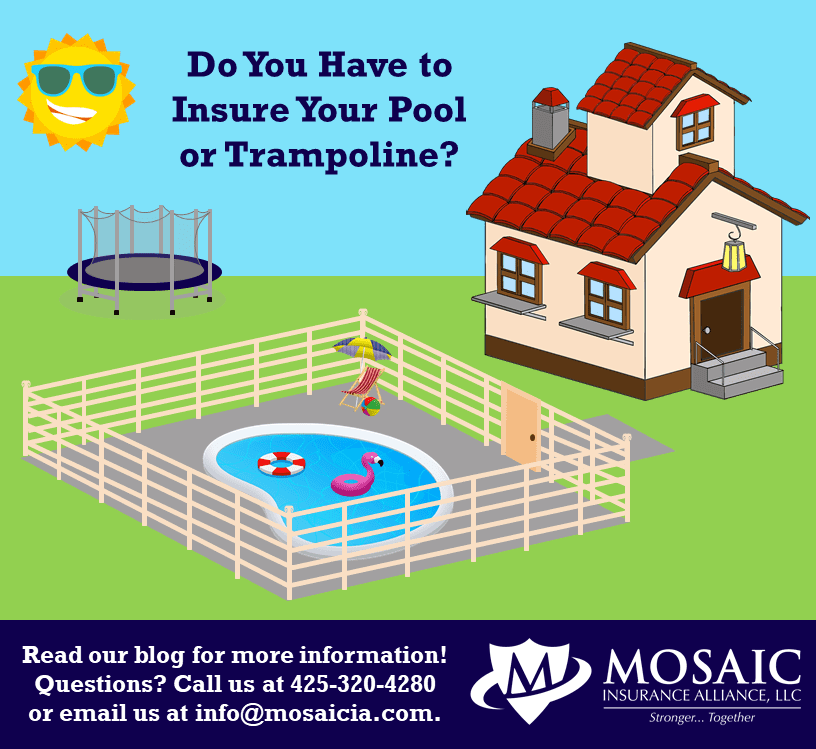 Mosaic Insurance: do you need trampoline or pool insurance?